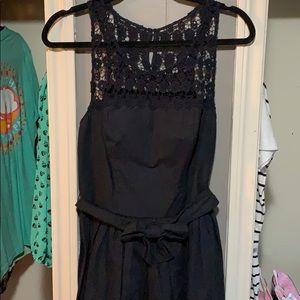 Navy Hollister cotton dress with belt